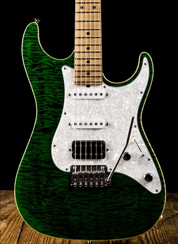 Suhr Standard Custom Quilted Maple Roasted Maple Trans Green