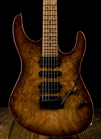 Suhr Modern Custom Waterfall Burl Maple/Roasted Alder - Natural Burst