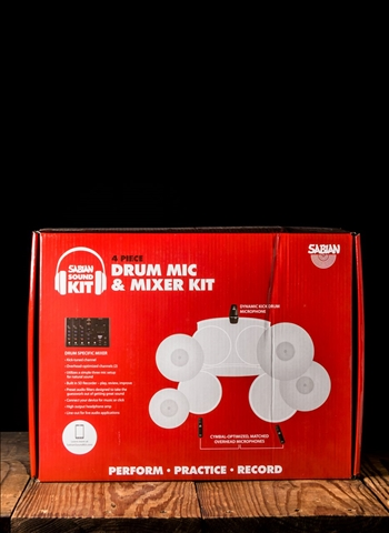 Sabian SSKIT - 4-Piece Drum Mic and Mixer Kit
