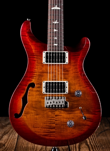 PRS 2016 S2 Custom 22 Semi-Hollow - Dark Cherry Sunburst