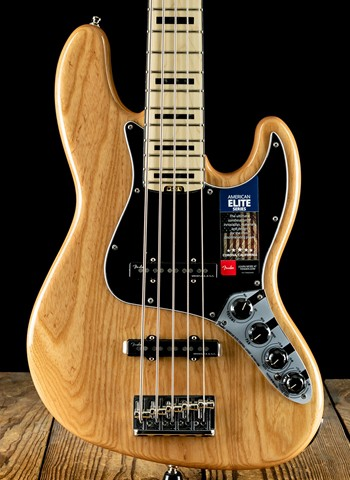 Fender American Elite Jazz Bass V - Natural