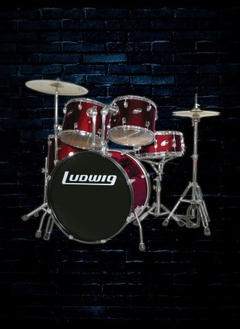 Ludwig LC175 Accent Series 5-Piece Drum Set - Wine Red
