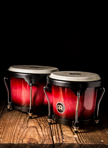 "Meinl HB100 - 6 3/4""x8"" Bongo Drum - Wine Red Burst"
