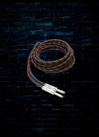 Hosa 3GT-18C5 - 18' Cloth Guitar Cable - Red/Black