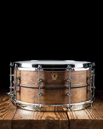 "Ludwig LC663T - 6.5""x14"" Raw Copper Phonic Snare"