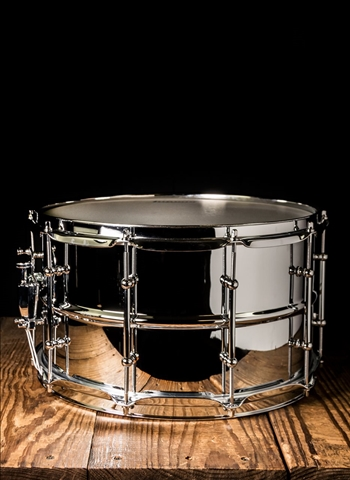 "Ludwig LW0814SL - 8""x14"" Supralite Snare - Steel"