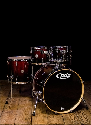 PDP PDCM2215RB - 5-Piece Concept Maple Drum Set - Red to Black Fade