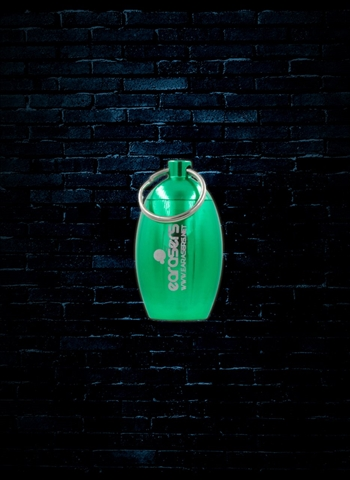 Earasers Waterproof Keychain Earplug Carrying Case - Green