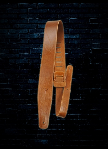 "Perri's AFR25-6873 - 2.5"" Africa Collection Leather Guitar Strap - Tan"