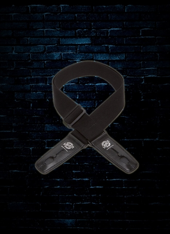 "Lock-It LIS 013 C2-BLK - 2"" Cotton Series Guitar Strap - Black"