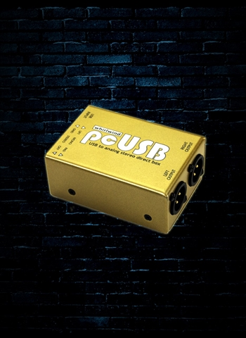 Whirlwind pcUSB - USB to Analog Stereo Direct Box