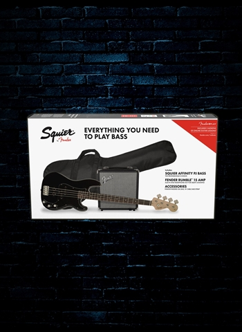 Squier Affinity Series PJ Bass Starter Pack - Black