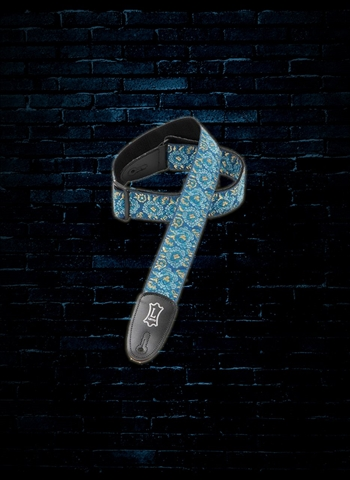 "Levy's M8AS-BLU - 2"" Asian Jacquard Guitar Strap - Blue"