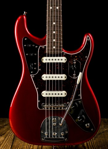 Fender Parallel Universe Jaguar Stratocaster - Candy Apple Red