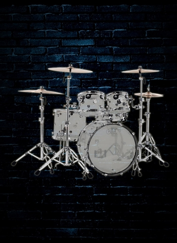 Drum Workshop PDCC2413ES Design Series 5-Piece Drum Set - Clear