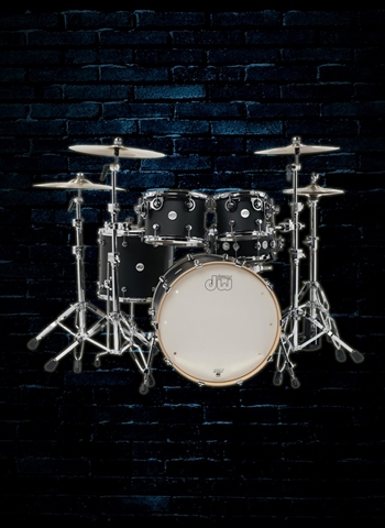 Drum Workshop DDLM2215BL Design Series 5-Piece Drum Set - Black Satin