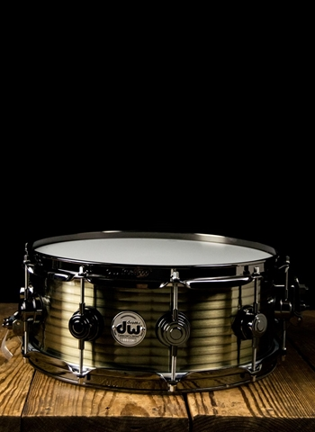 "Drum Workshop DRVR5514SBN - 5.5""x14"" Collector's Series Snare Drum - Vintage Steel"