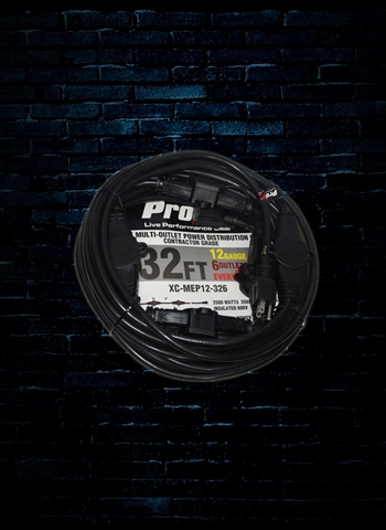 ProX XC-MEP12-326 - 32' 6 Outlet 12/3 Extension Cord