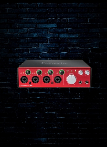 Focusrite Clarett 4Pre USB 18x8 Audio Interface