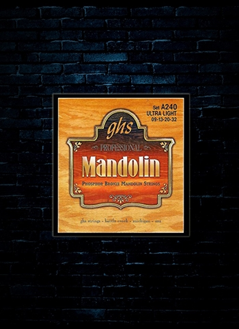 GHS A240 Phosphor Bronze Mandolin Strings - Ultra Light (09-32)