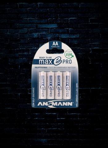 Ansmann AA maxE Pro NiMH Rechargeable Batteries (4 Pack)