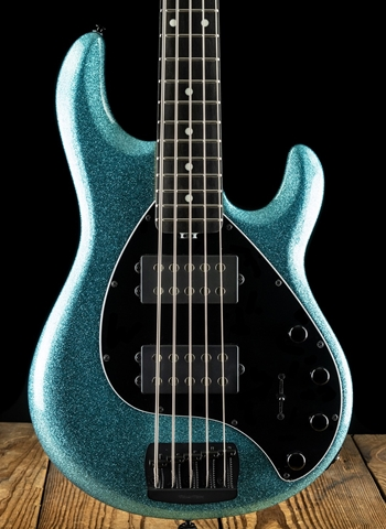 Music Man StingRay5 Special HH - Aqua Sparkle