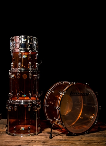 Ludwig Zep L8264LX Vistalite 5-Piece Drum Set - Amber