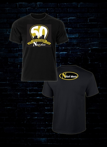 N Stuff 50th Anniversary on Black T-Shirt