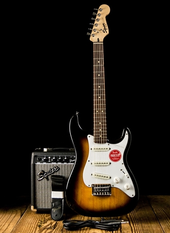 Squier Stratocaster Starter Package - Brown Sunburst