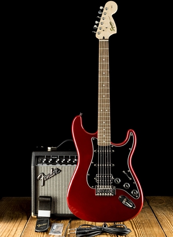 Squier Affinity Series Strat Pack HSS - Candy Apple Red