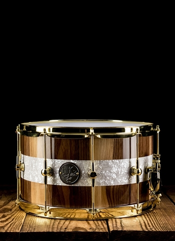 "HHG 8""x14"" Calico Walnut Stave Snare Drum - Natural"