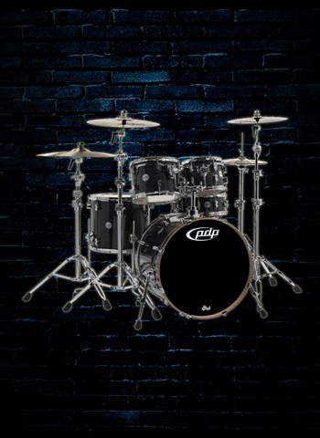 PDP PDCM2215ES - 5-Piece Concept Maple Drum Set - Ebony Stain