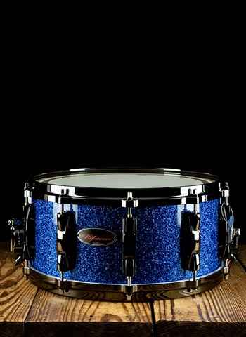 Pearl Reference 14x6.5 Snare Drum Sapphire Blue Sparkle