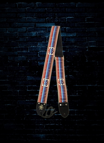 "D'Andrea 2"" Ace Vintage Reissue Guitar Strap - White/Multicolor"