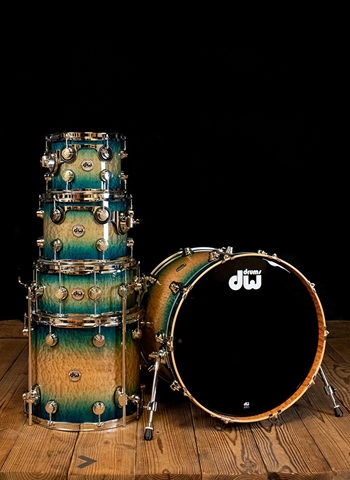 Drum Workshop Collector's Series 5-Piece Drum Set - Natural to Carl Allen Blue Burst