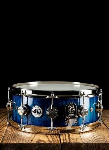"DW 5.5""x14"" Collector's Series Exotic Snare Drum - Violet Blue Burst"