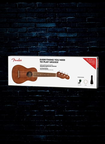 Fender Seaside Soprano Ukulele Pack V2 - Natural