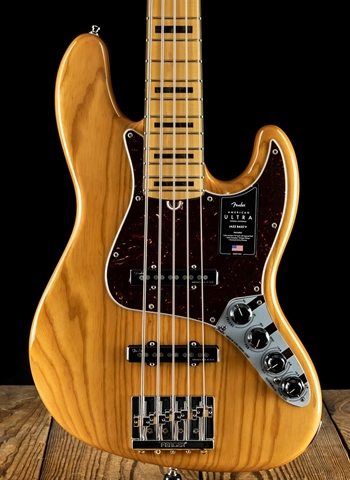 Fender American Ultra Jazz Bass V - Aged Natural