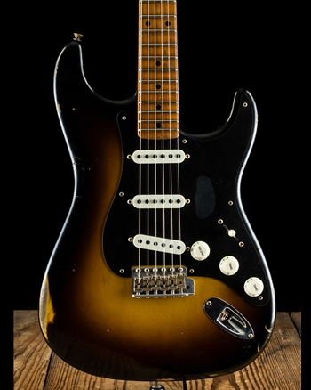 Fender Limited Edition Roasted Poblano Strat Shattered Relic - Wide Fade 2-Tone Sunburst