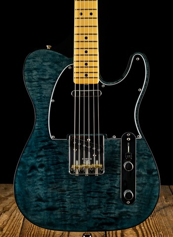 Fender Rarities Quilt Maple Top Telecaster - Blue Cloud