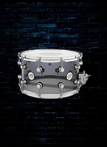 "DW 8""x14"" Limited Design Series Snare Drum - Smoked Acrylic"