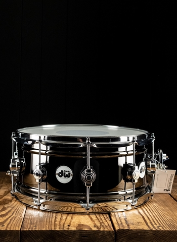 "DW 6.5""x14"" Design Series Snare Drum - Black Nickel Over Brass"