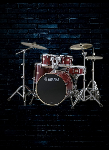 Yamaha Stage Custom Birch 5-Piece Drum Set - Cranberry Red
