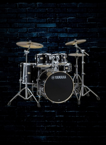 Yamaha Stage Custom Birch 5-Piece Drum Set - Raven Black