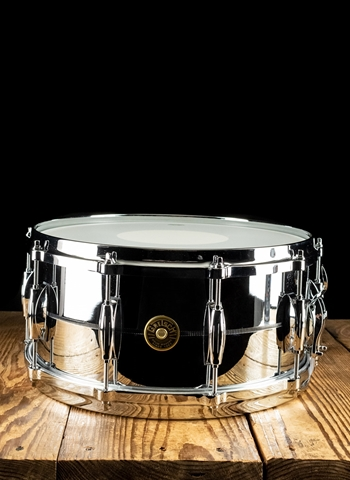 "Gretsch 6.5""x14"" USA Custom Metal Snare Drum - Chrome Over Brass"