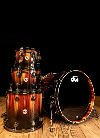 DW Collector's Series 4-Piece Exotic Drum Set - Candy Black Fade