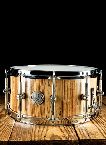 "HHG 6.6""x14"" Hand Cut Stave Snare Drum - Natural Satin"