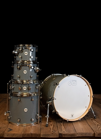 DW 5-Piece Design Series Drum Set - Steel Gray
