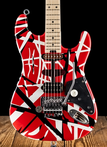 EVH Modified Striped Series - Red w/Black & White Stripes *USED*