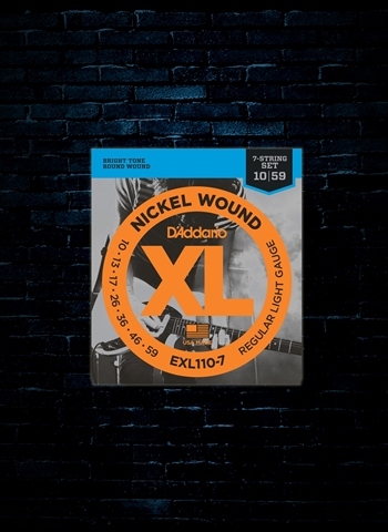 D'Addario EXL110-7 XL Nickel Wound Electric - 7-String Light (10-59)